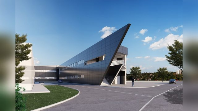 Industrial Building Architecture - ZETES-3 Power Generation Facility Refectory and Locker Building