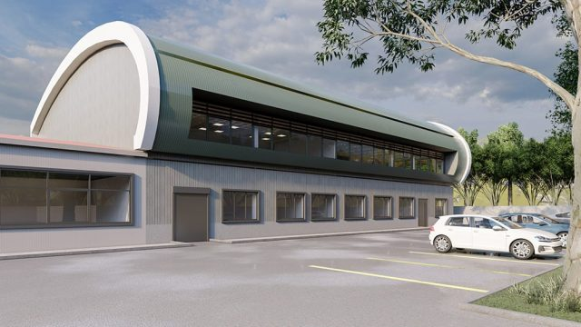 Industrial Building Architecture - Demir Export Lab and Office Building