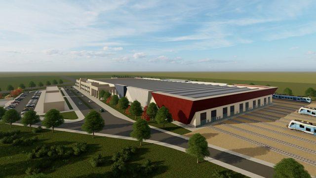 Industrial Building Architecture - TCDD Gaziantep HST Maintenance Building