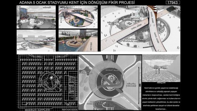 Mimari - Adana 5 Ocak Stadyumu Yarışması