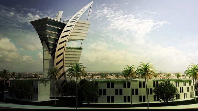 Office Architecture - Libya Ministry Defense Building